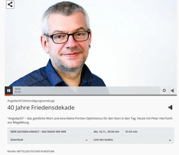 Zum MDR-Beitrag von Peter Herrfurth